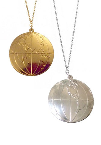 Globe Pendant Necklace-Pretty Little Thing