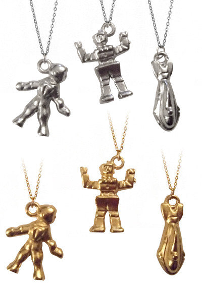 Robot Astronaut Charm Necklace-Pretty Little Thing