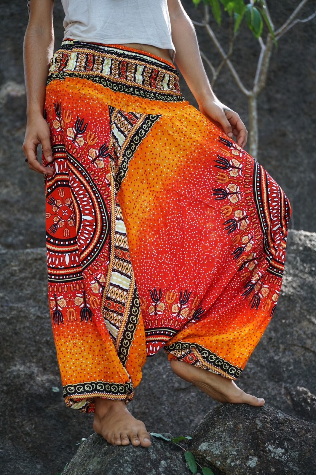 Harem pants – Chakra Pattern – Orange