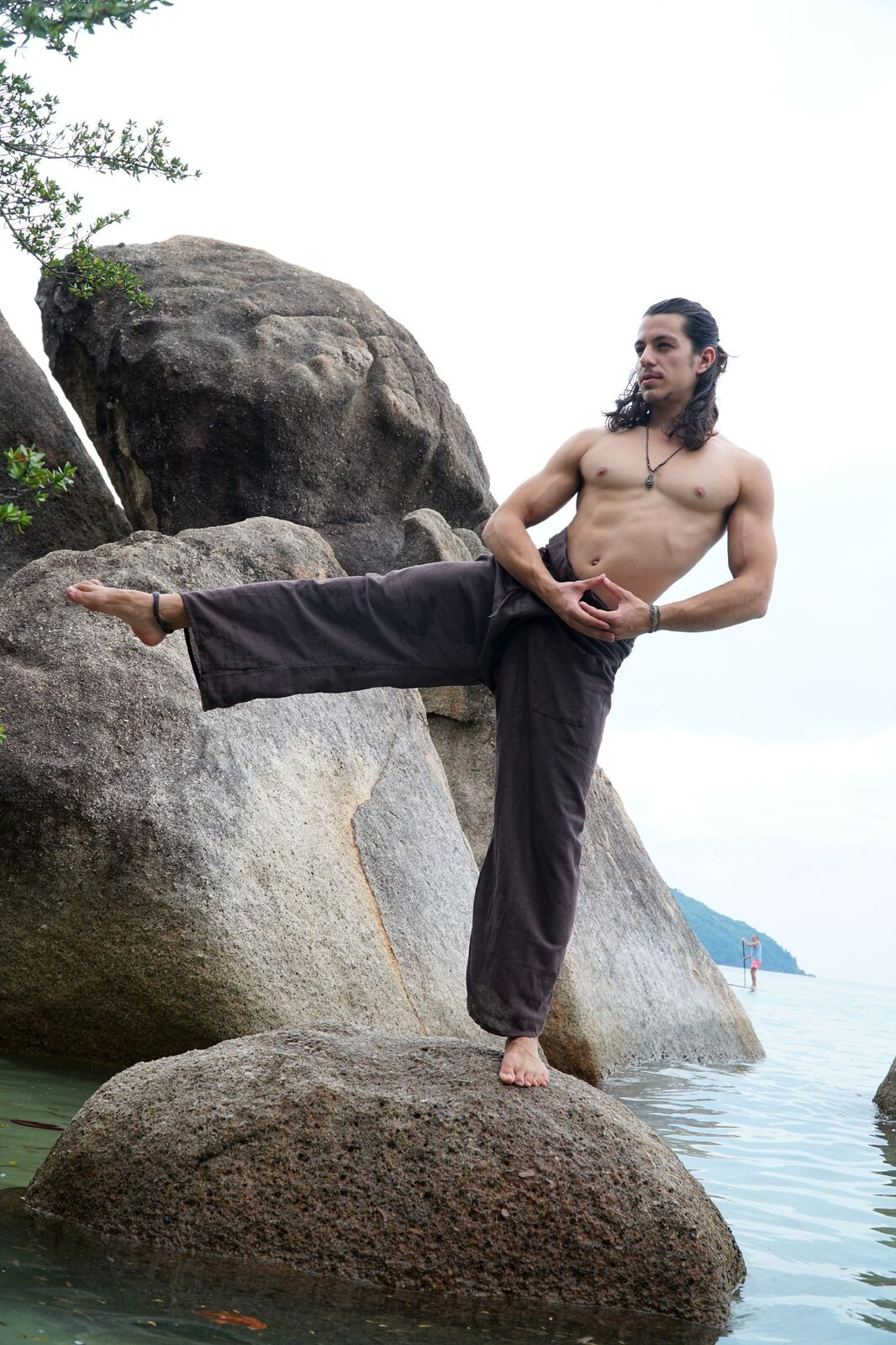 Thai Fisherman Pants - Hemp -Brown