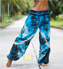 High Cut Harem Pants - Tie Dye - Blue & Black