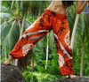 High Cut Harem Pants - Tie Dye - Orange & Brown