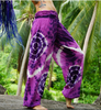 High Cut Harem Pants - Tie Dye - Purple/Pink