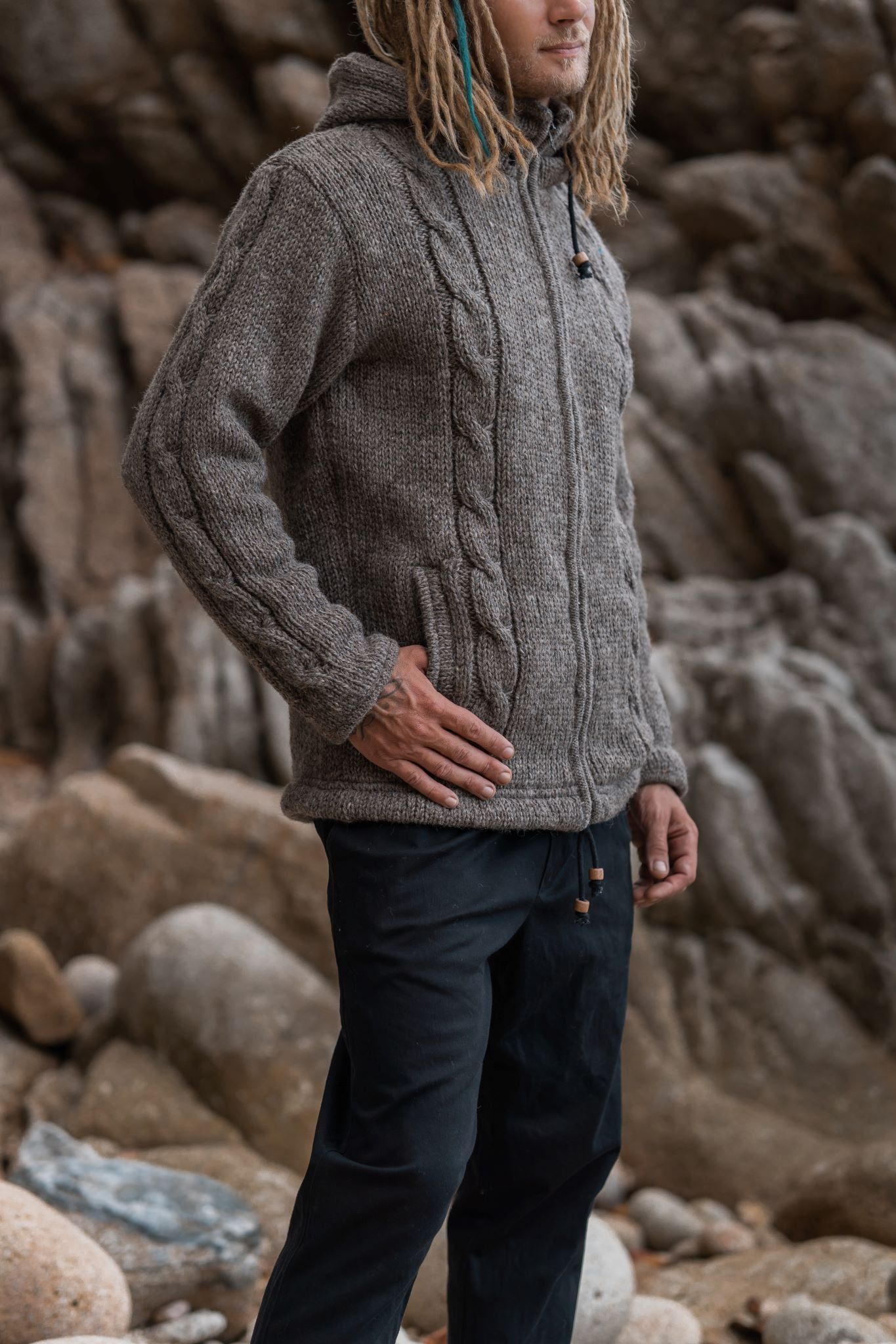 Wool Jacket - Aran - Light Brown