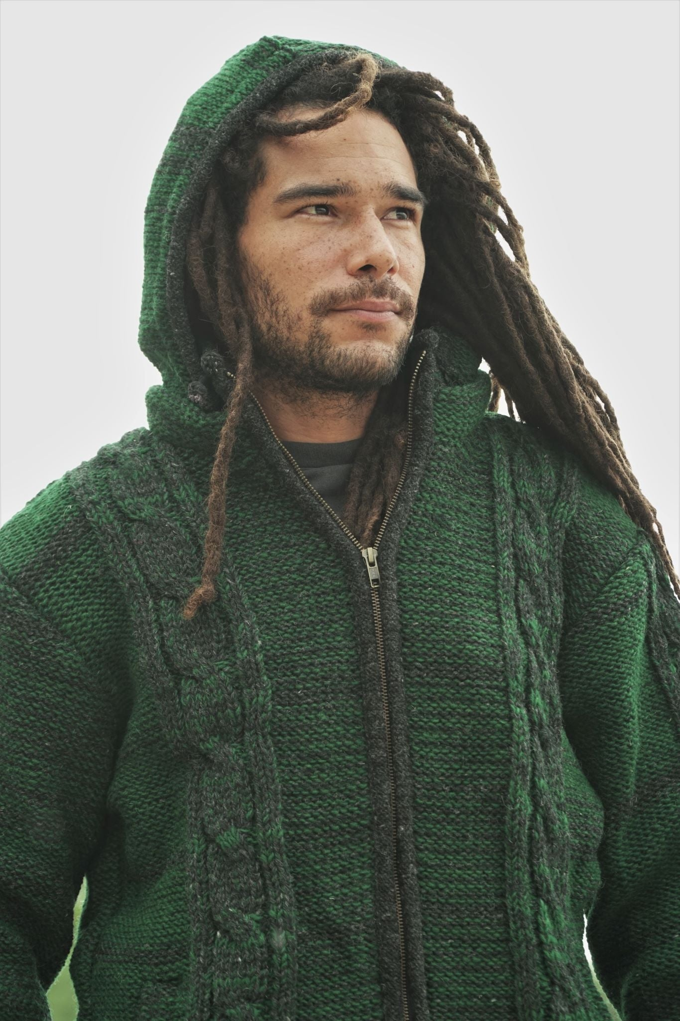 Wool Jacket - Aran - Green