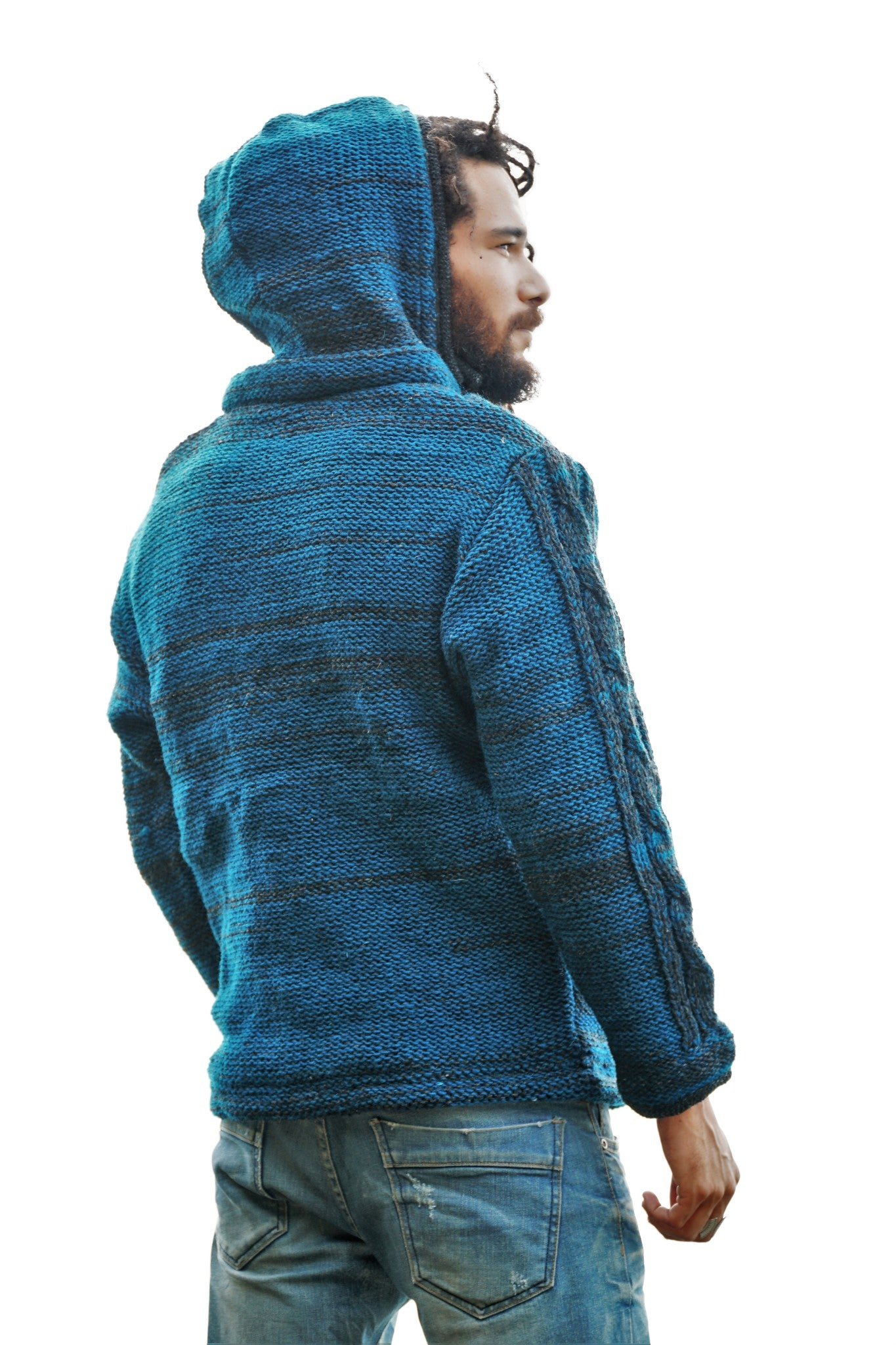 Wool Jacket - Aran - Teal