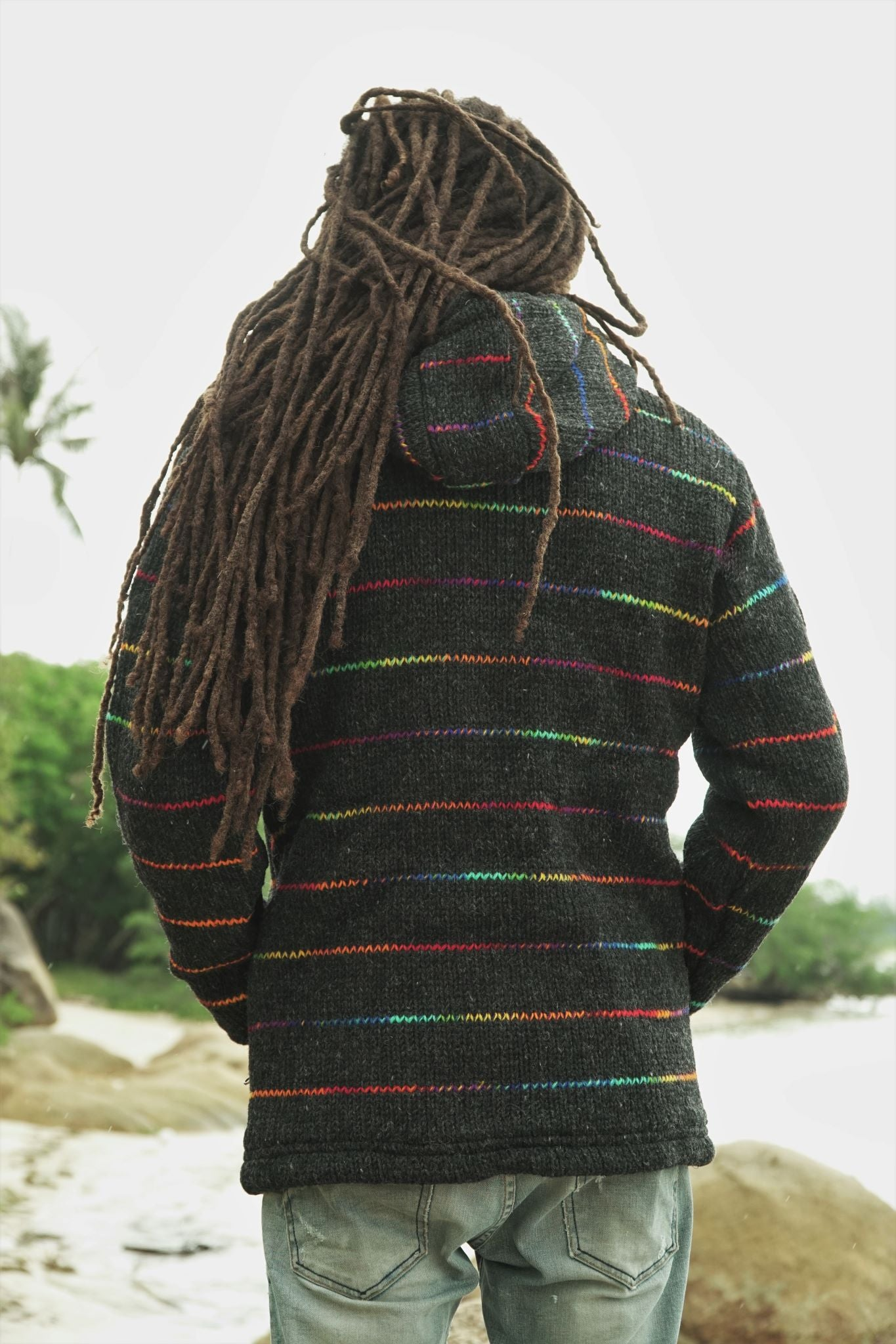 Wool Jacket - Charcoal - Rainbow