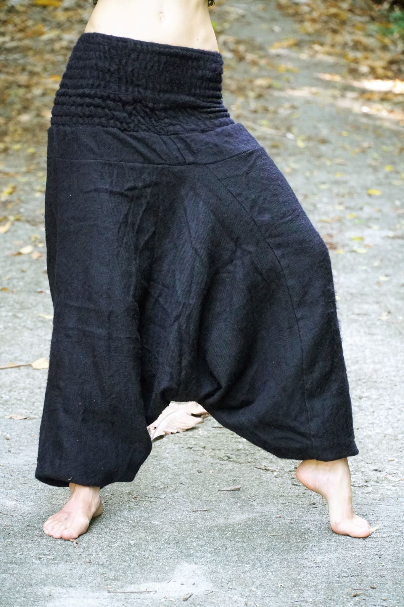 Warm Harem Pants - Cashmilon - Black