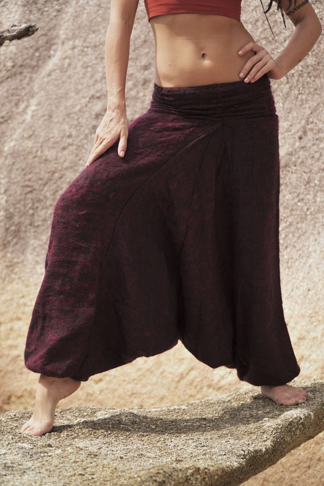 Warm Harem Pants - Cashmilon - Red