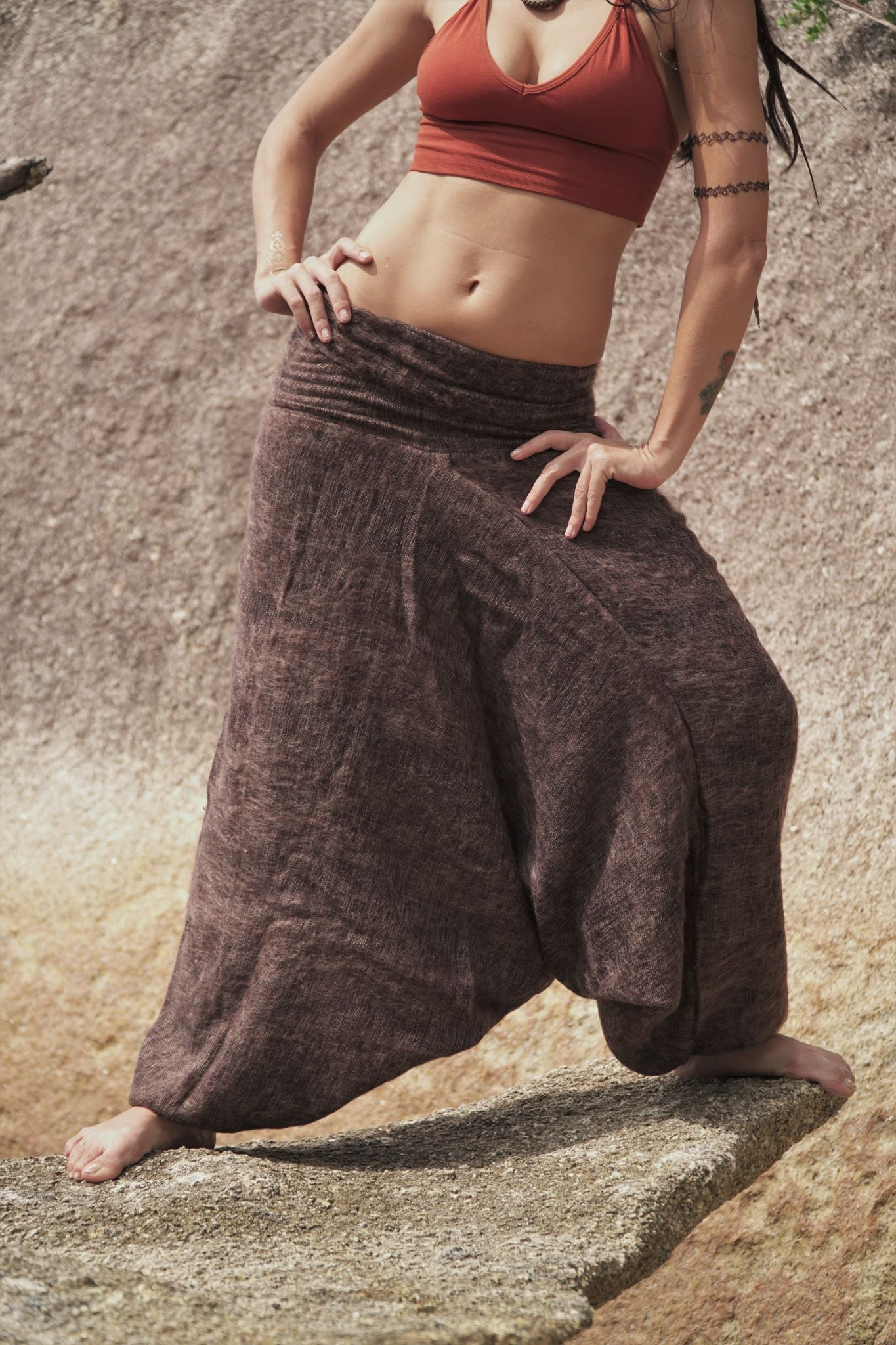 Warm Harem Pants - Cashmilon - Brown