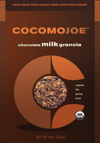 organic vegan chocolate milk granola - single