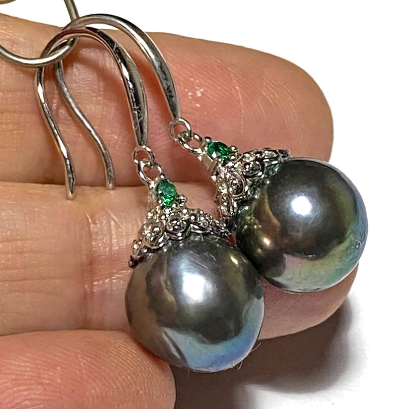 Diamond 14K & 18K W Gold  South Sea 12-13mm Gold Pearl Ring Size 4-10