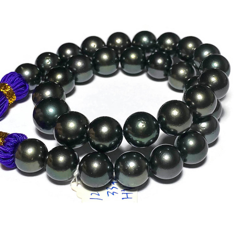 Top Quality Giant A Pair 12.4 g 16 - 16.5mm Philippines Sea Pearls