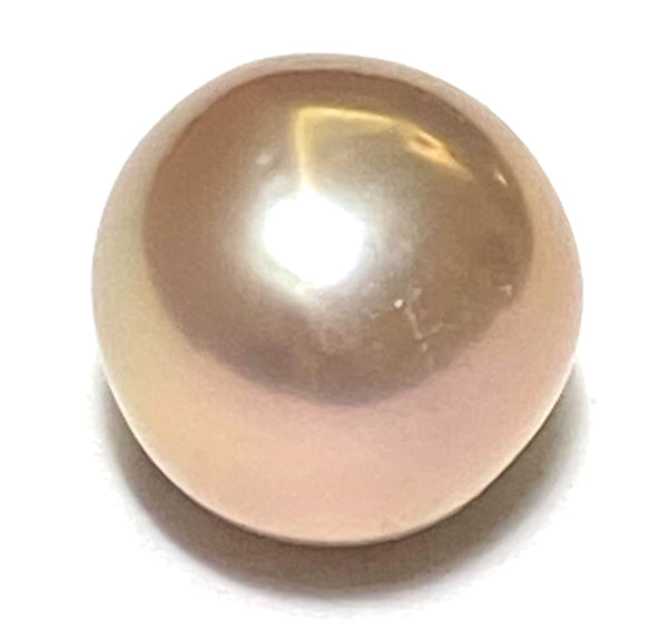 Excellent Luster 1.75g 10.5 - 11mm Purple Pink Round Edison Pearl Loose