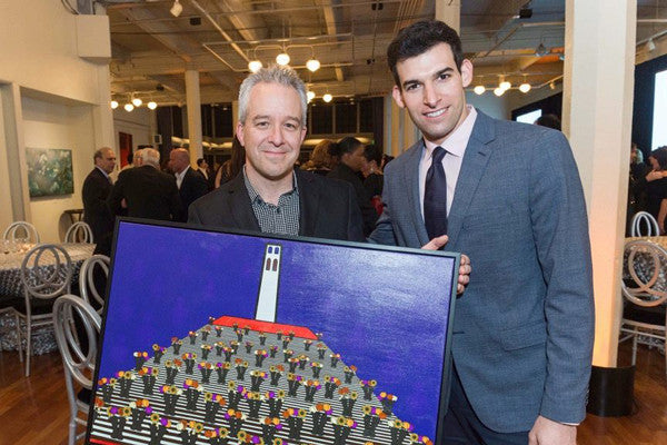 Artist John Kraft and Green Creative Co-CEO Cole Zucker