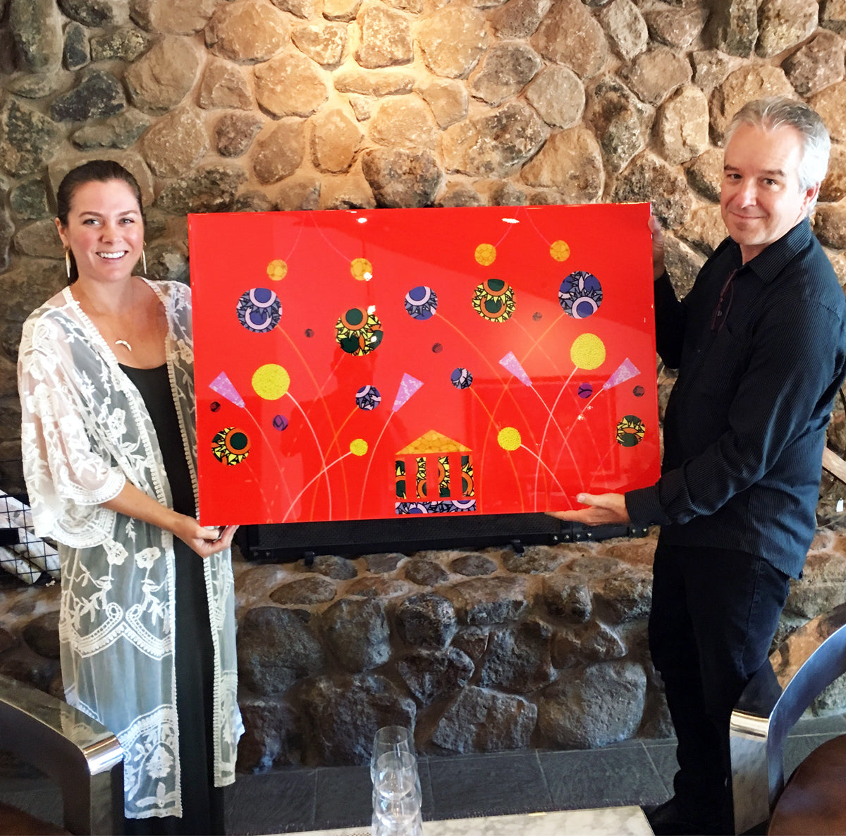 Artist John Kraft and Kara Lynae at Imagery Estate Winery