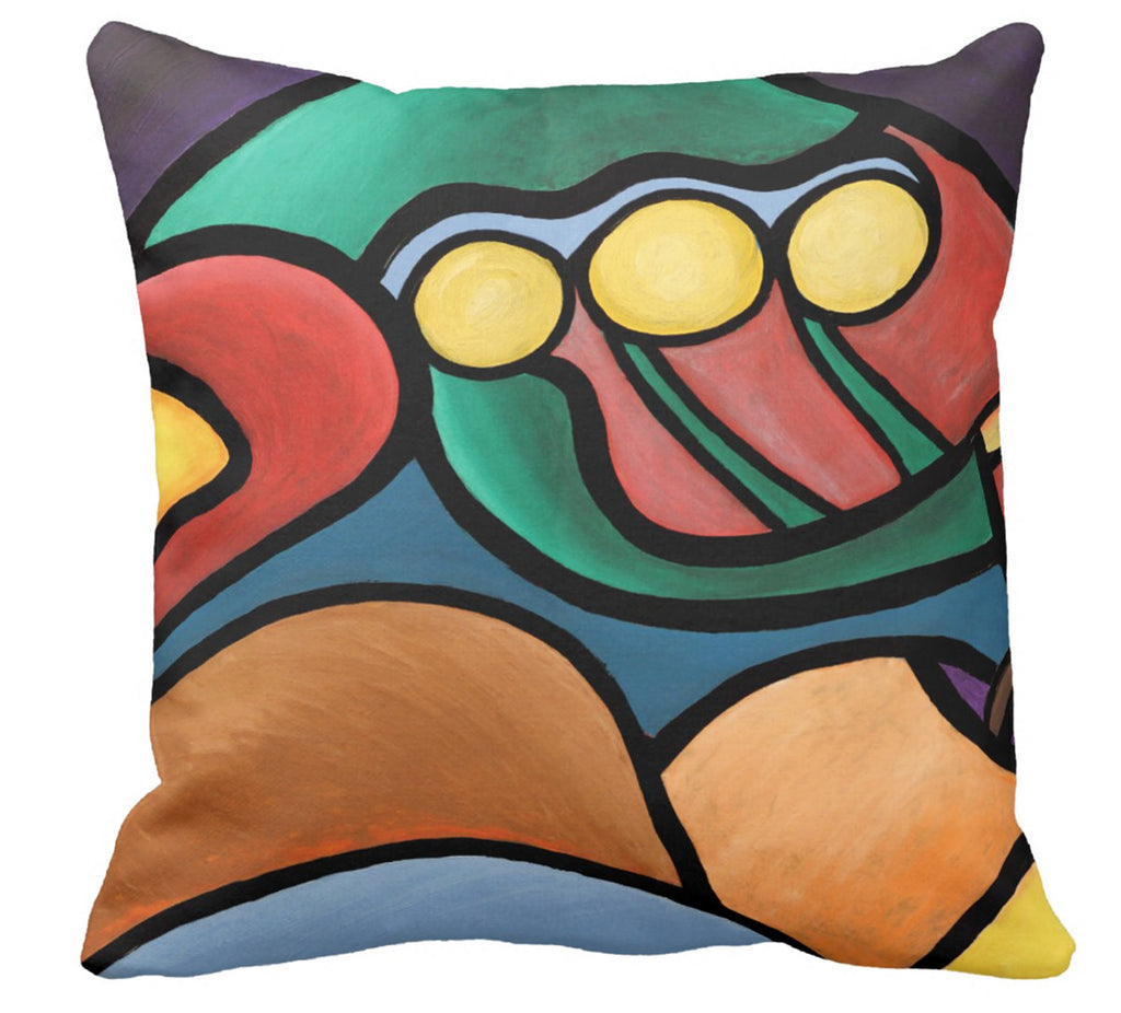 John Kraft Abstract Pillow