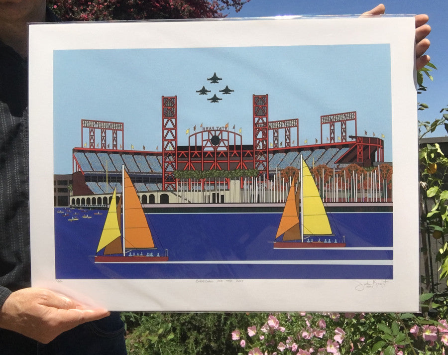 Baseball by the Bay by John Kraft (fine art paper)