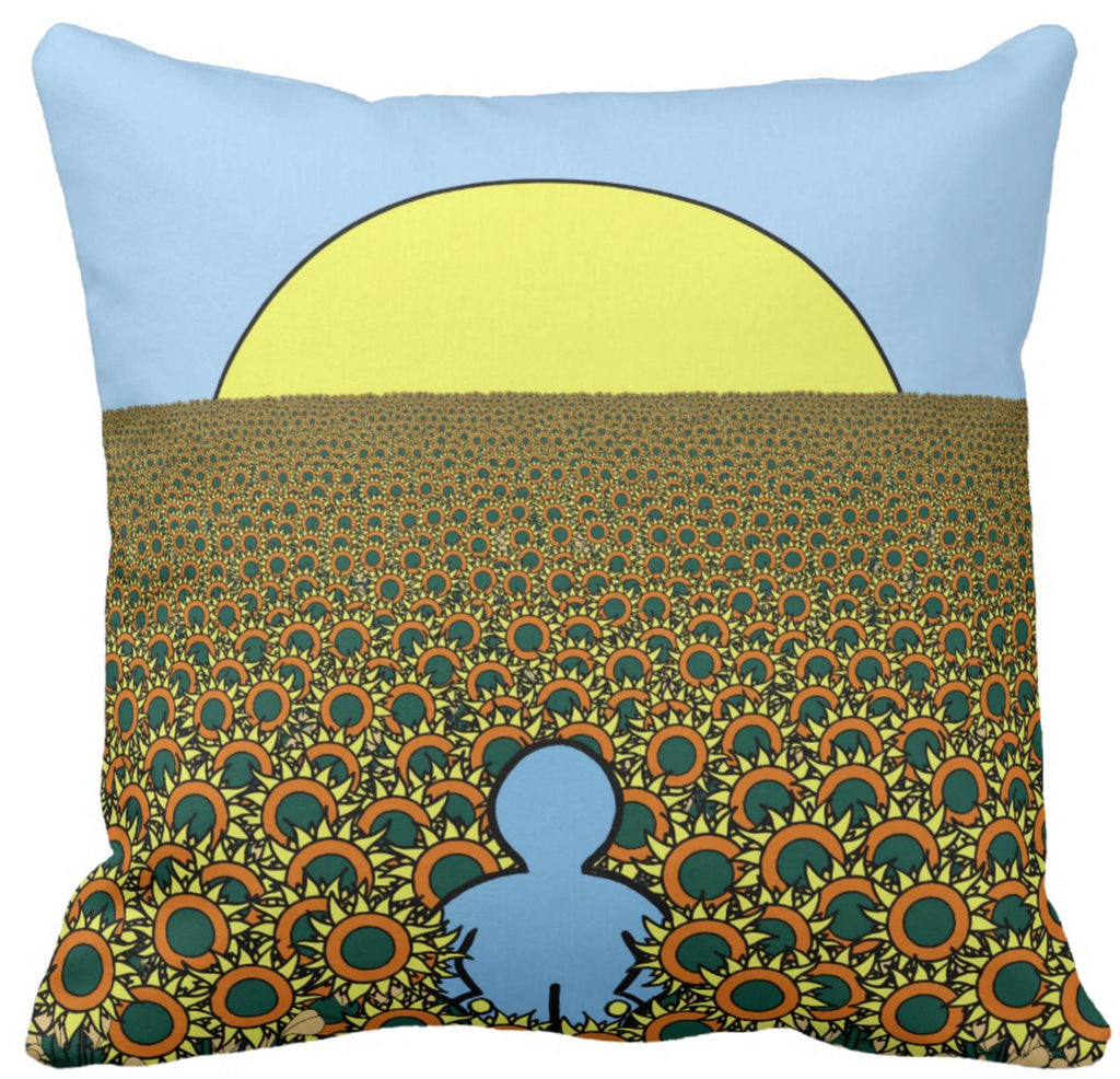 Sunflower Pillow by John Kraft