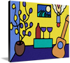 Wine and Song by John Kraft (ready to hang canvas)