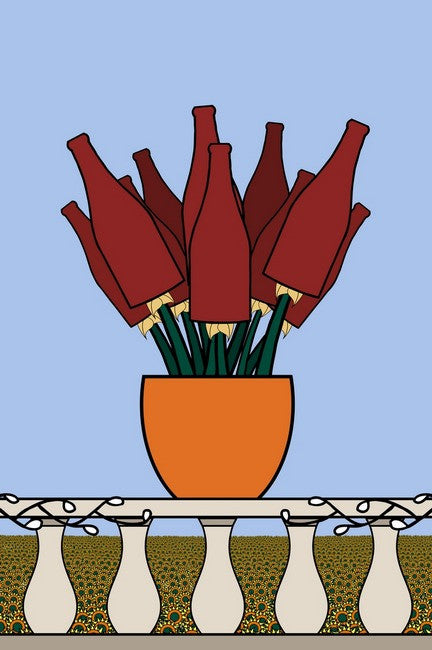 Bouquet de Burgundy by Artist John Kraft