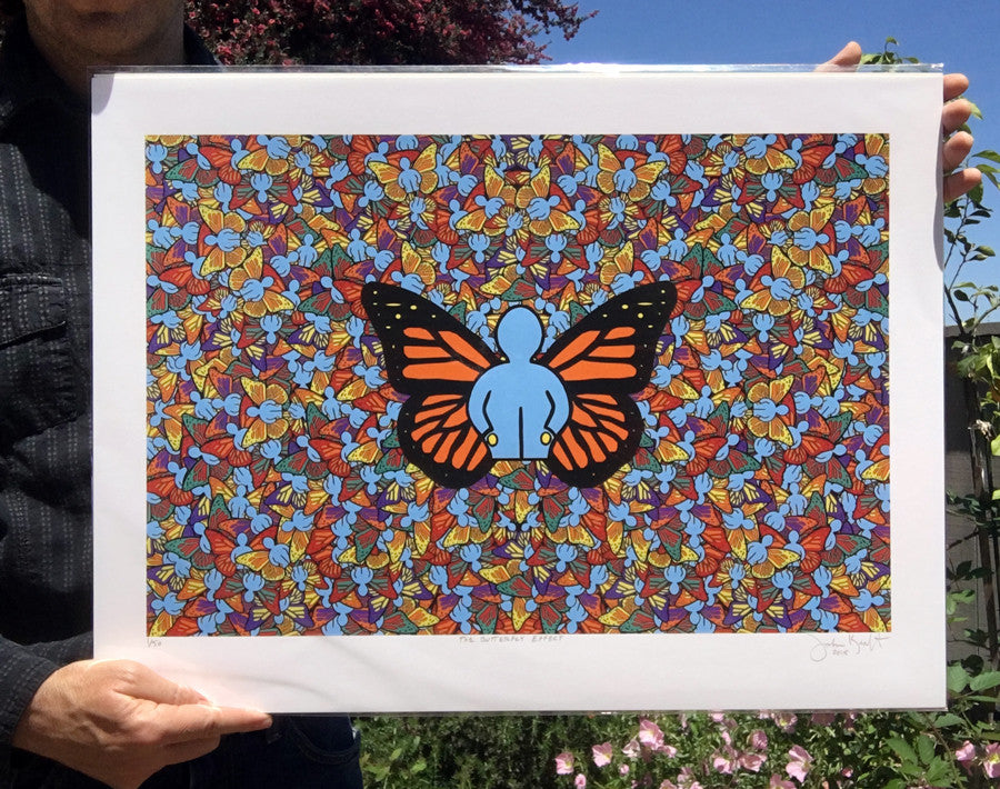 The Butterfly Effect by John Kraft (fine art paper)