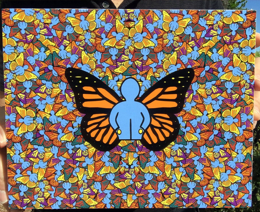 The Butterfly Effect Wood Mounted Print by John Kraft