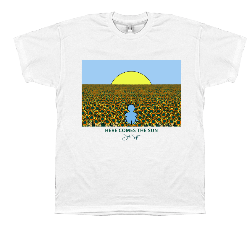 Here Comes the Sun T-Shirt by Artist John Kraft