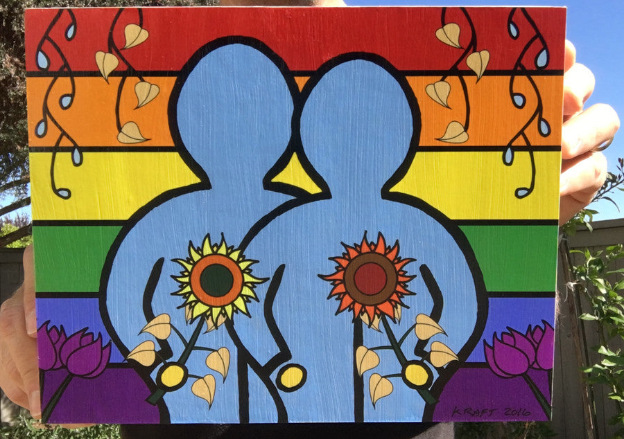 Love Wins Wood Mounted Print by John Kraft