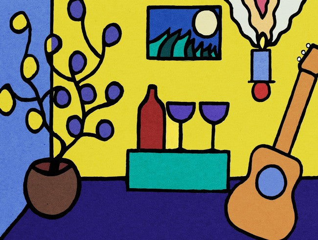 Wine and Song art print by John Kraft