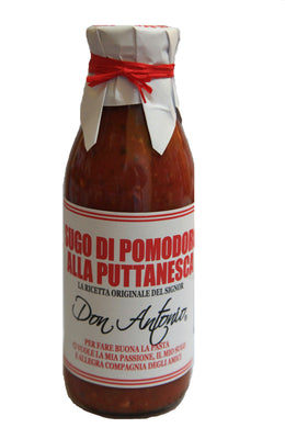 Sugo alla Puttanesca Tomato Sauce with olives and capers 500 gr.