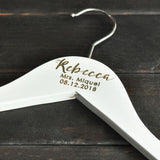 Wooden Wedding Coat Hanger with Personalized Engraving  Notes