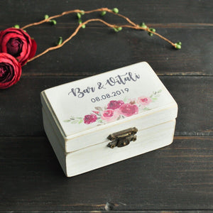 Custom Wedding Engagement Wooden Jewelry Ring Box