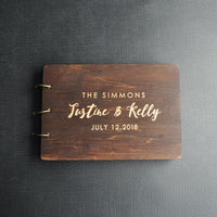 Personalized Rustic Wedding Guest Book