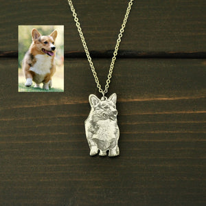 Personalized Dog Photo Jewelry For Dog Lover and Pet Loss Gift