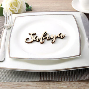 Laser Cut Acrylic and Wooden Place Card Name Sign
