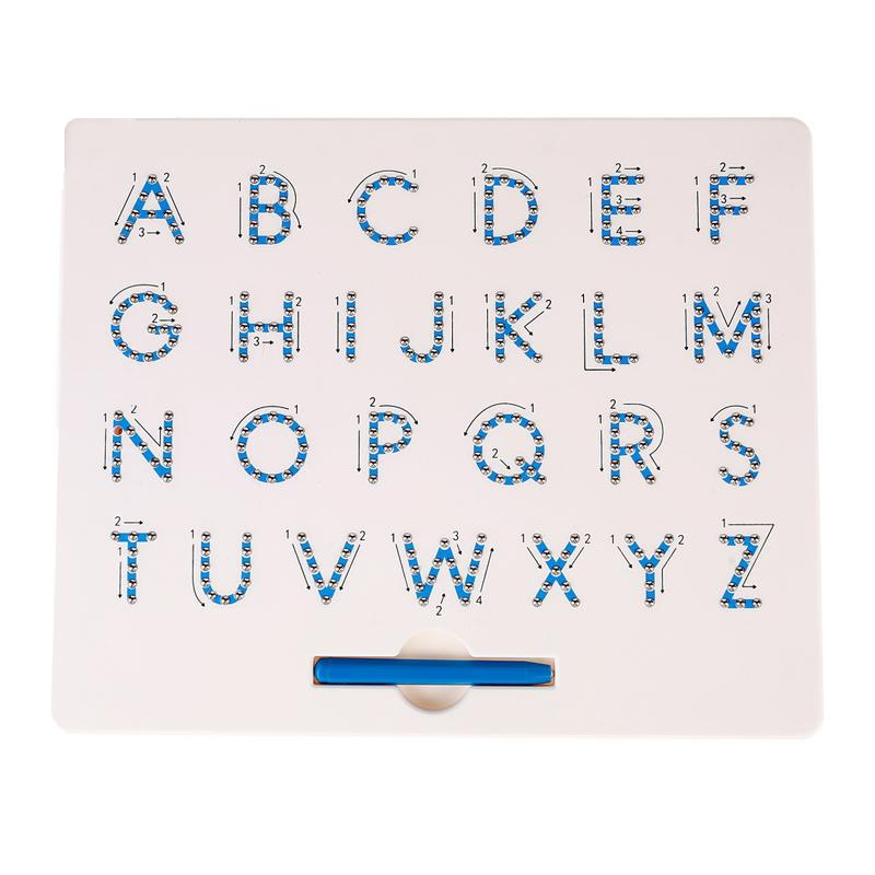MagnaTab - Magnetic Alphabet Letter Tracing Learning Board For Toddler