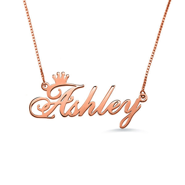 31aa4378da16c Crown Pattern Custom Name Necklace Special Gifts for Mom Giftfriends and  Ladies- Sterling Silver Necklace - 100% Personalized Name Necklace