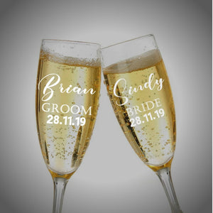 Wedding Toasting Flutes Champagne Glasses | Customized Anniversary Gift Glasses