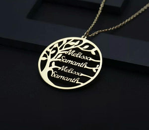 Personalized Family Tree Custom Name Necklace