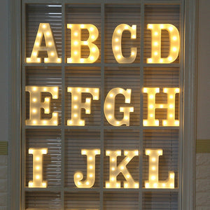 💖 Nordic Style Home Decoration Luminous LED Letter Fairy Lights