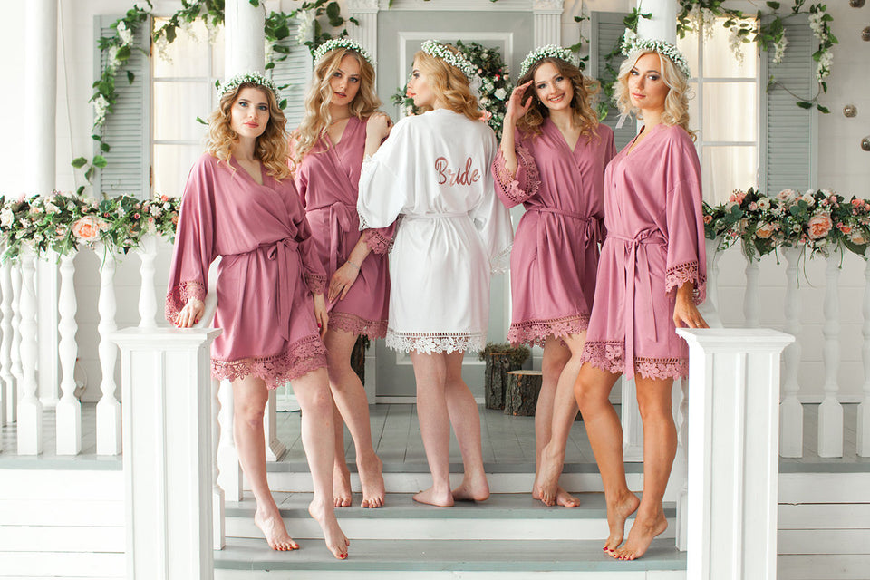 Bridesmaid Robes Bridal robes Bridesmaid Gifts Bridal Party Robes Monogram  Robes Satin Solid Bridesmaid Robe Wedding robes