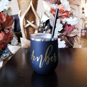 Custom Wine Tumbler, Wine Tumbler with Straw, Personalized Wine Tumbler, Custom Tumblers