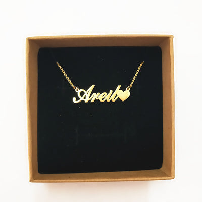 14k Gold Personalized Nameplate NecklaceAlskar+ Supplies