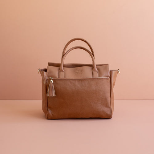 The Stella Tote - All Tan