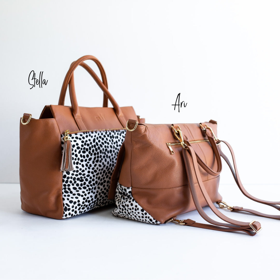 The Ari 3 Way Backpack - Tan Spot