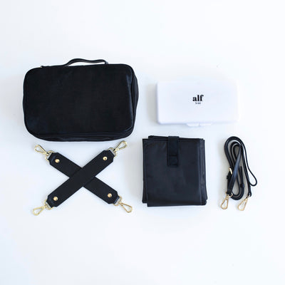 The Alf Compact Change Mat - All Black
