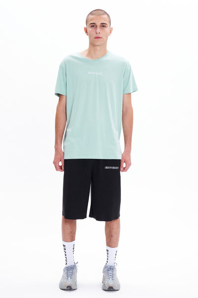 T-shirt soft green ricamo - Independent_wear