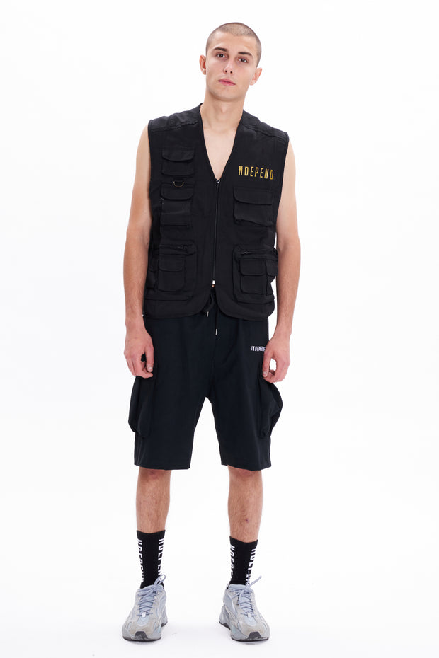 Gilet nero scritta oro - Independent_wear