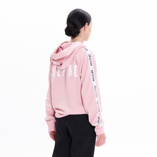 Felpa cappuccio soft rose banda - Independent_wear